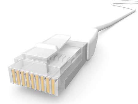 intranet: Network Cable Stock Photo