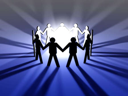 intention: Power of Teamwork Stock Photo