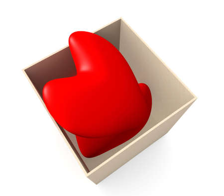 Hearts in a box Stock Photo - 1010119