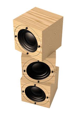Cubic Speaker Stock Photo - 1132503