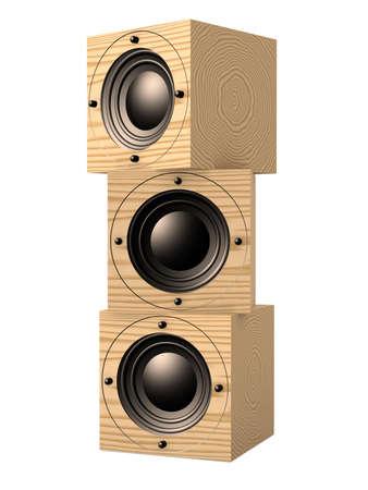 Cubic Speaker Stock Photo - 1132504