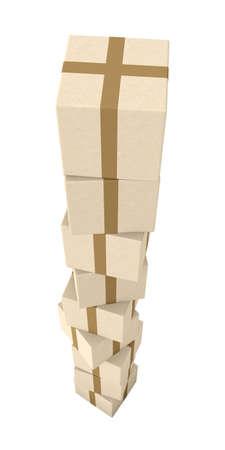 overburden: Stack of Packages
