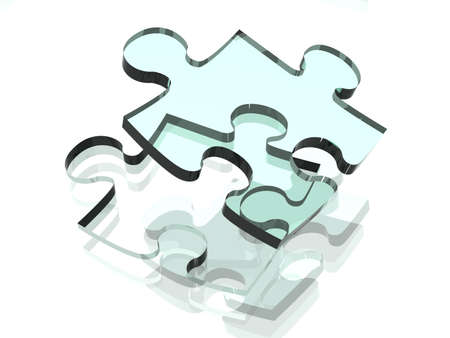 Clear Puzzle Solution Stock Photo - 1171933