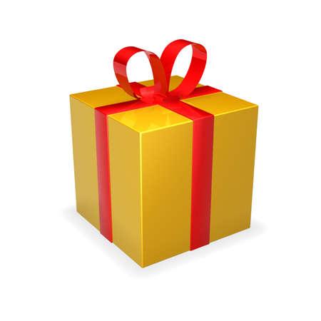 Gift Box - golden Stock Photo - 1193518