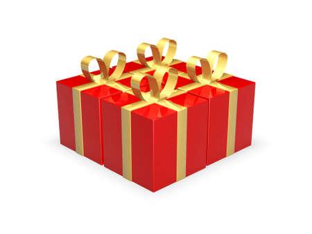 Four Gift Boxes Stock Photo - 1193504