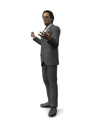 arguing: Arguing 3D Business Man