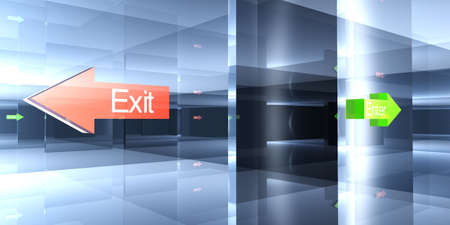Enter or Exit - Your choice Stock Photo - 1341304