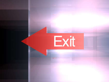 Exit - This way Stock Photo - 1341306