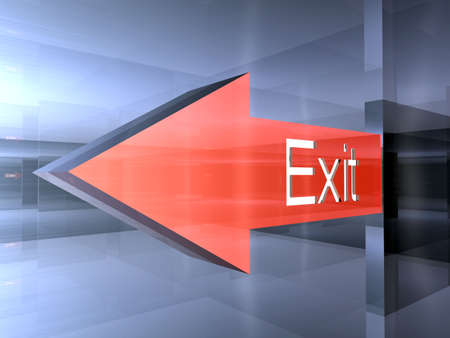 Exit - This way Stock Photo - 1341305