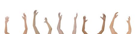 raise: Raise your Hands  Stock Photo