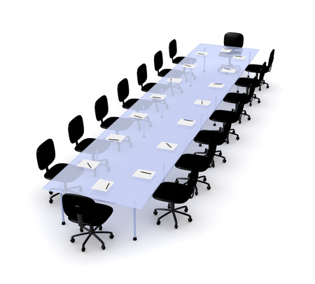 raytrace: Conference Table Stock Photo