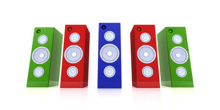 Colored Speakers Stock Photo - 2168790