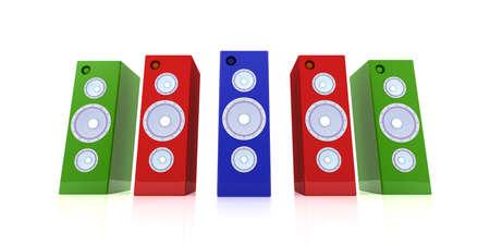 Colored Speakers Stock Photo - 2168790