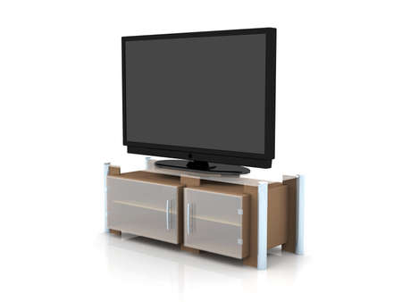 White Plasma TV Stock Photo - 2192592