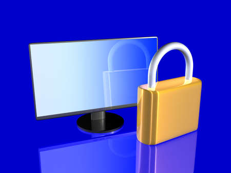 Secure Screen Stock Photo - 3620450