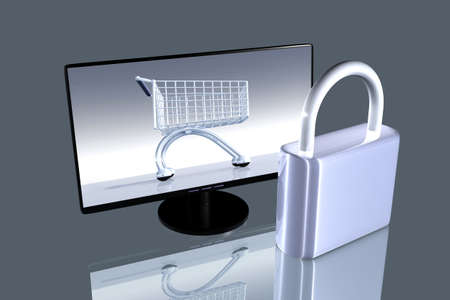 Secure online Shopping Stock Photo - 3620939