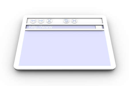 wepage: Browser Window  Stock Photo