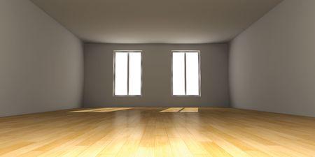 condo: Empty Room Stock Photo