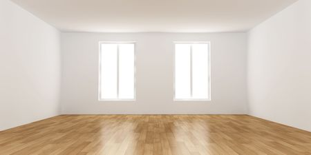 cold room: Empty Room Stock Photo