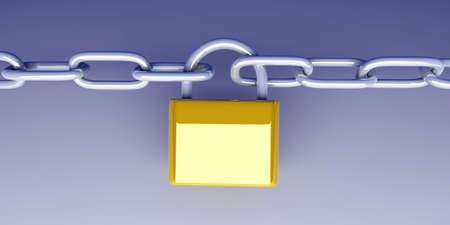 locked: Locked Chain Stock Photo