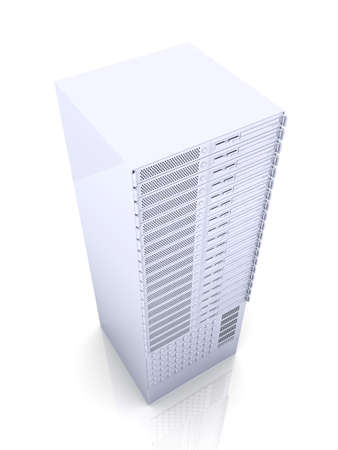 webspace: 19inch Server  Stock Photo