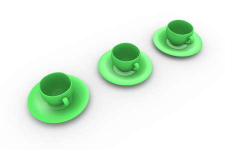 cofffee: Three Coffee Cups