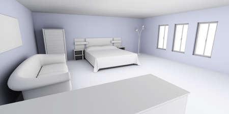 bedspread: Apartment Interior  Stock Photo