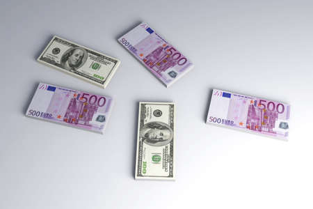 valuta: Dollar and Euro Notes