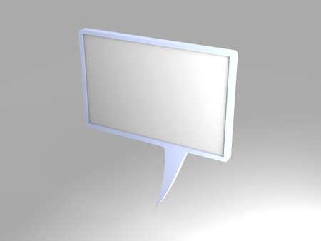 aloud: 3D rendered Illustration. A cartoon speech bubble.
