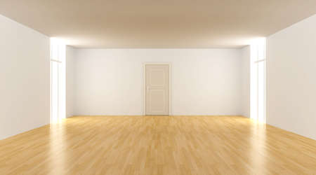 locked door: Door in a empty room