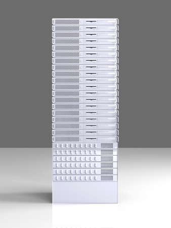fileserver: 19inch Server tower  Stock Photo