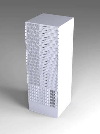 webspace: 19inch Server tower  Stock Photo
