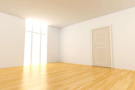 doorstep: Door in a empty room
