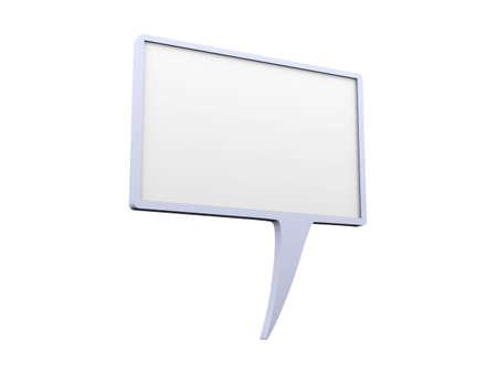 aloud: Speech bubble Stock Photo