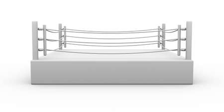 boxing: 3D Illustration. Isolated on white.