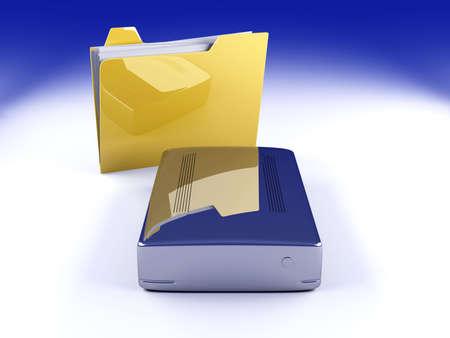 hard drive: 3D rendered Illustration.
