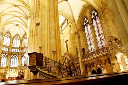 regensburg: REGENSBURG, GERMANY - AUGSUT 27, 2010: Interior image of the famous dome of Regensburg on August 27, 2010 in Regensburg, Germany.