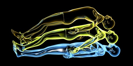 3d rendered Illustration. Astral Projection. Stock Illustration - 20589266