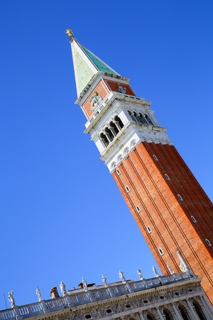 The Campanile di San Marco (San Marco tower) in Venice, Italy, Europe. photo