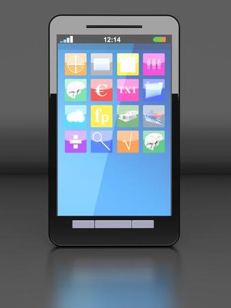 A modern Smartphone. 3D illustration. Stock Illustration - 20841008