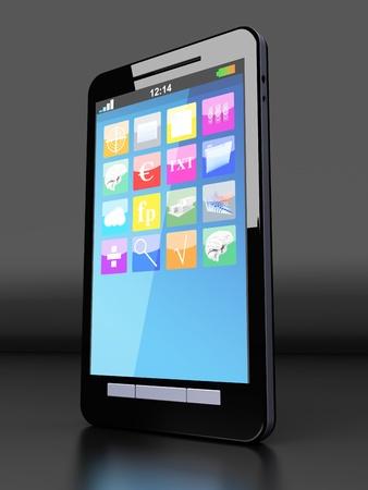 A modern Smartphone. 3D illustration. Stock Illustration - 20841010