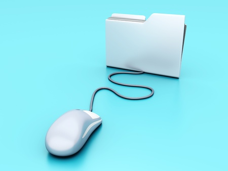 Clicking on a Folder. 3D illustration. illustration