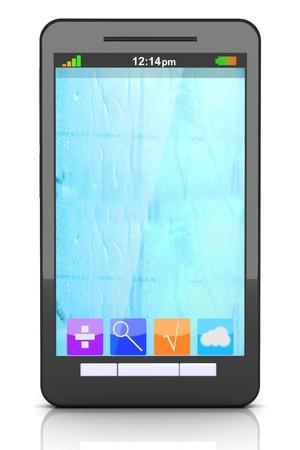 A modern Smartphone. 3D illustration. Stock Illustration - 21159278