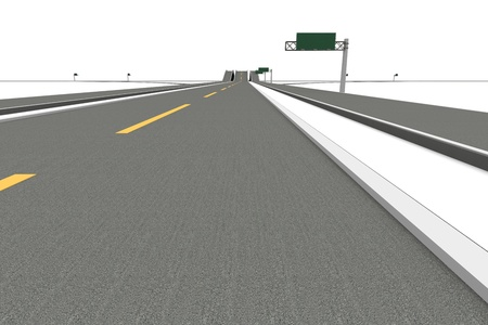 underpass: A Highway interchange. 3D rendered Illustration. Isolated on white. Stock Photo