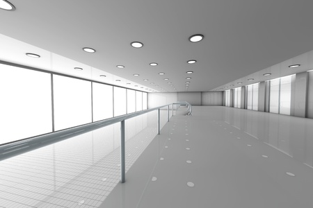 A empty office  Architectural visualisation  3D rendered Illustration Stock Illustration - 21723223