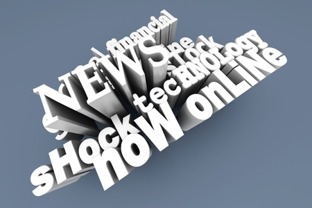breaking news: In the News  3D Illustration