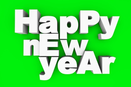 year 3d: Happy new year  3d illustration  Stock Photo