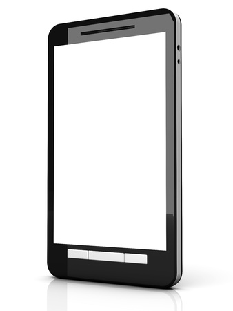 A modern Smartphone. 3D illustration. Stock Illustration - 21906666