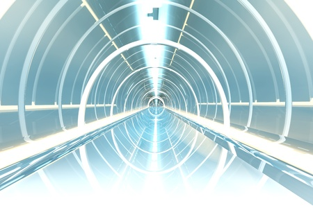 space station: A space station interior. 3d rendered illustration. Stock Photo