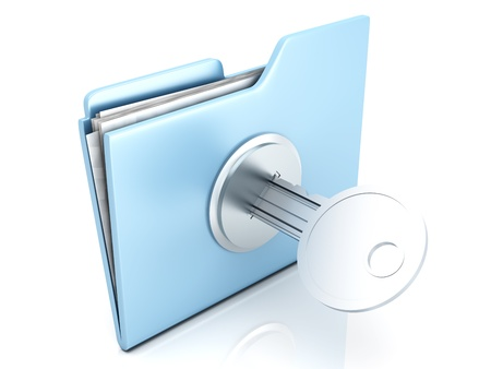 A locked Folder. 3D illustration. illustration